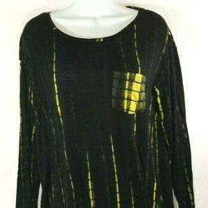 Black and Gold Stretchy Tunic